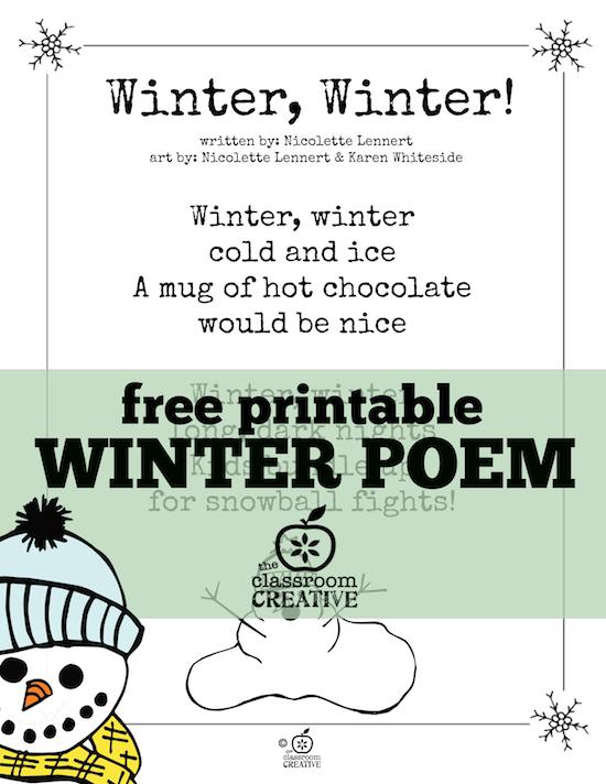 free printable winter poem for kids