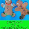 gingerbread man craft that expresses emotions