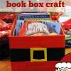 santa belly book box craft, santa craft, christmas craft for kids, christmas read-aloud ideas theclassroomcreative.com