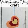 valentines day heart craft activity using the elements of art color for kids