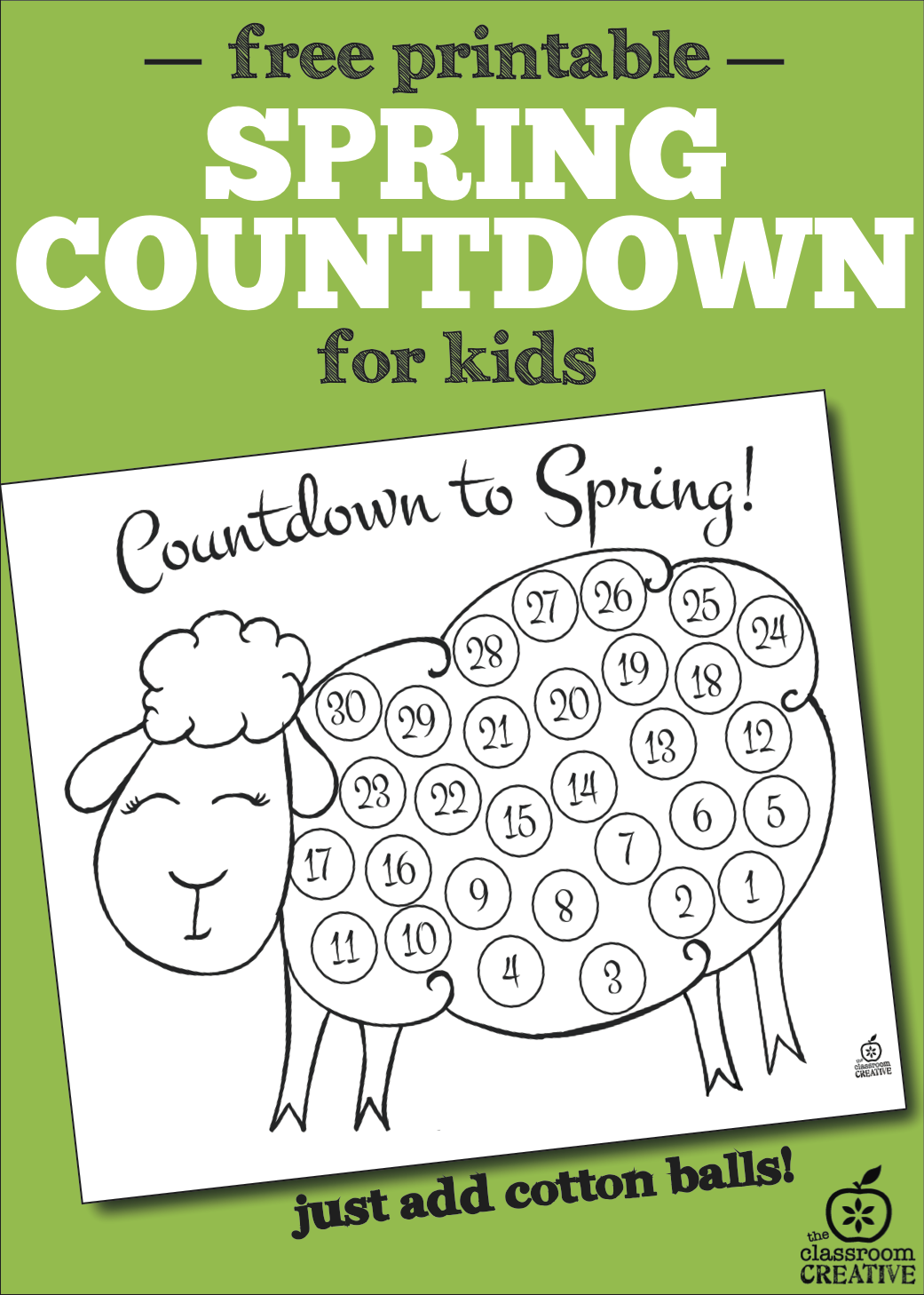 Spring Countdown Craft for Kids (free printable)