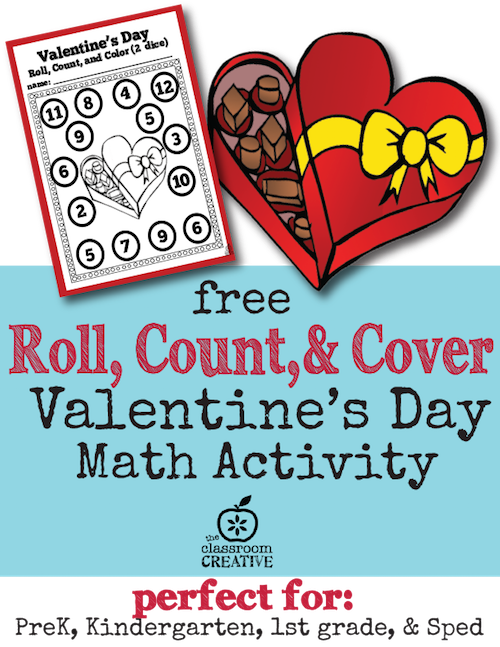 Free Valentine's Day Math Activity For Preschool Kindergarten And. Download This Fun Math Center Valentine's Day. Worksheet. 1st Grade Valentine S Day Math Worksheet At Clickcart.co