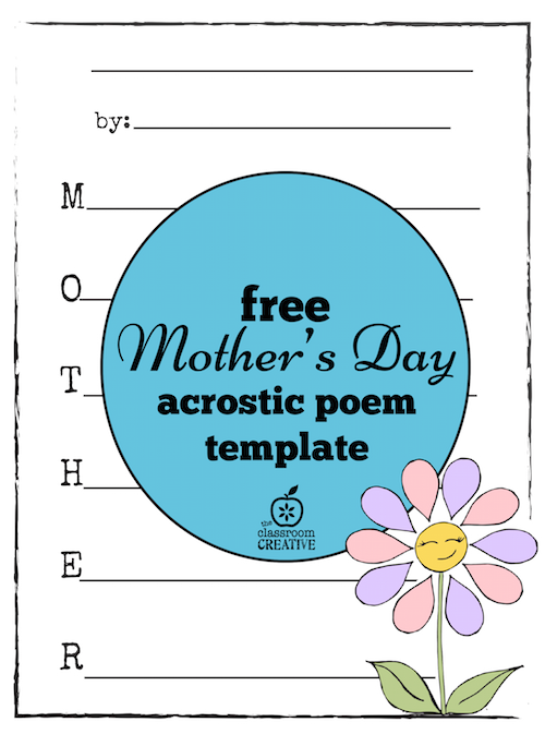 Free Mother's Day Acrostic Poem Template