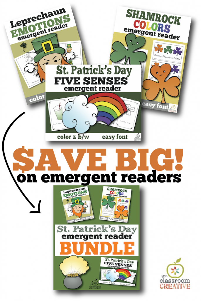st patricks day emergent reader bindle