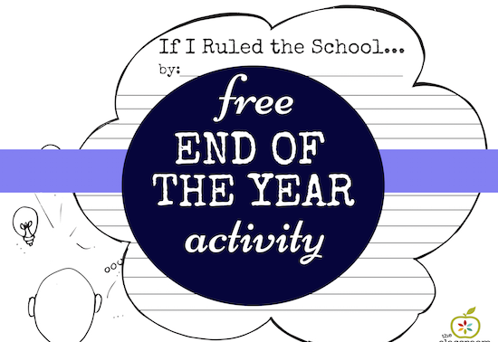 free end of the year writing activity