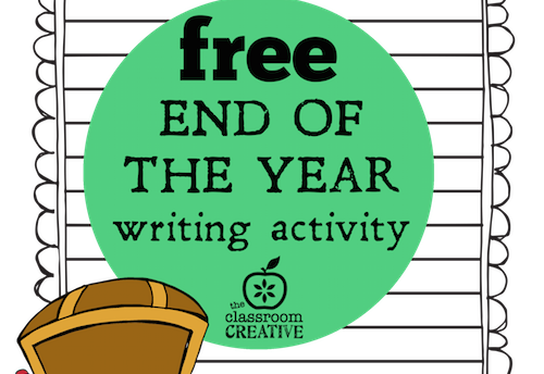 free end of the year pirate writing activity