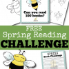 spring literacy challenge, spring reading challenge