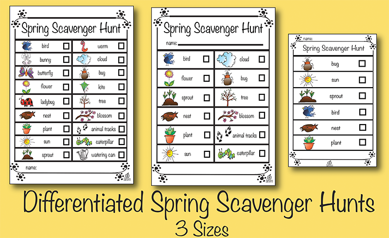spring scavenger hunt ideas