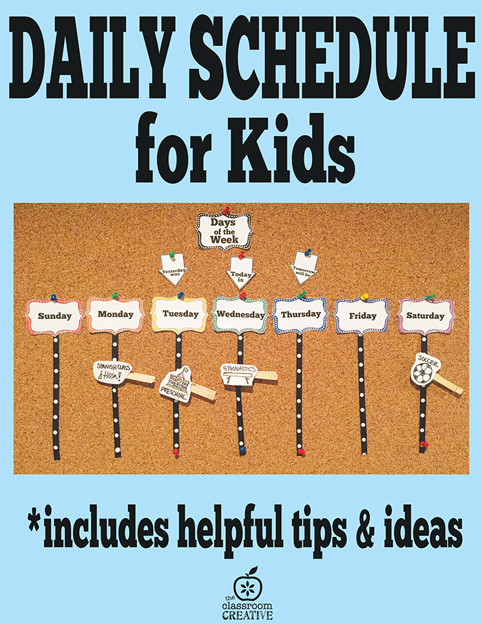 schedule maker for kids