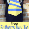 Free Father's Day Craft & Tie Template