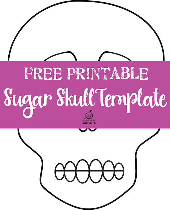 Free day of the dead sugar skull template for Day of the dead skull mask template