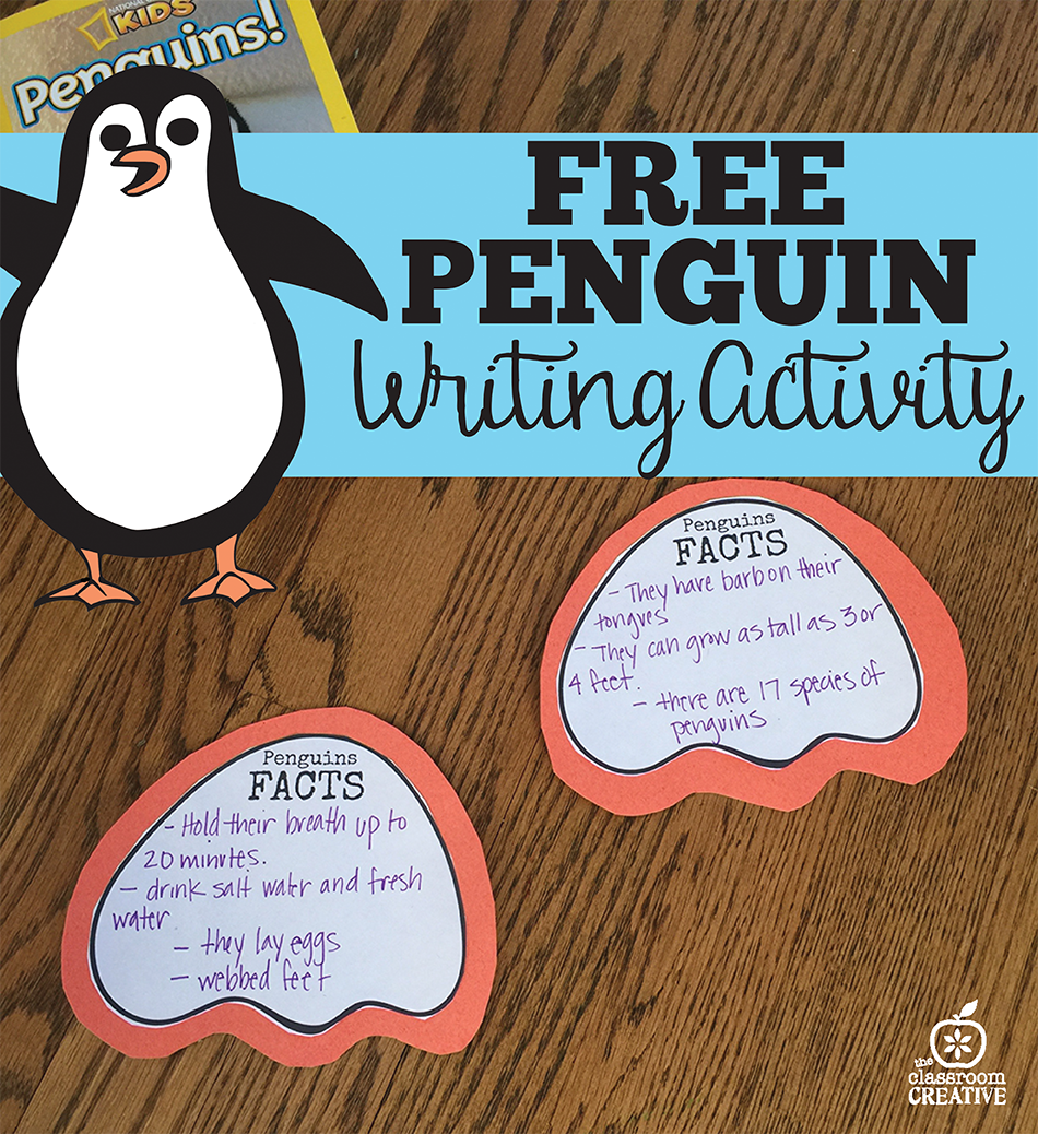 Free Penguin Writing Activity: Penguin Facts