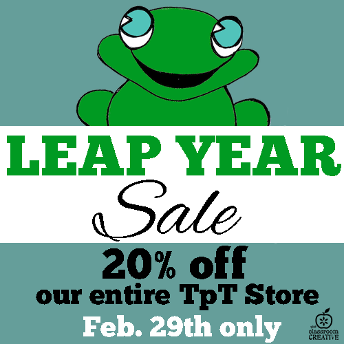 Flash Leap Year Sale- Starts Now!