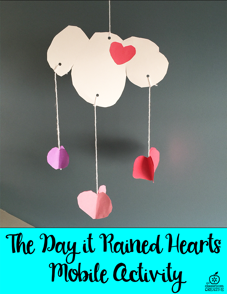 Valentine's Day Idea for the Book The Day It Rained Hearts