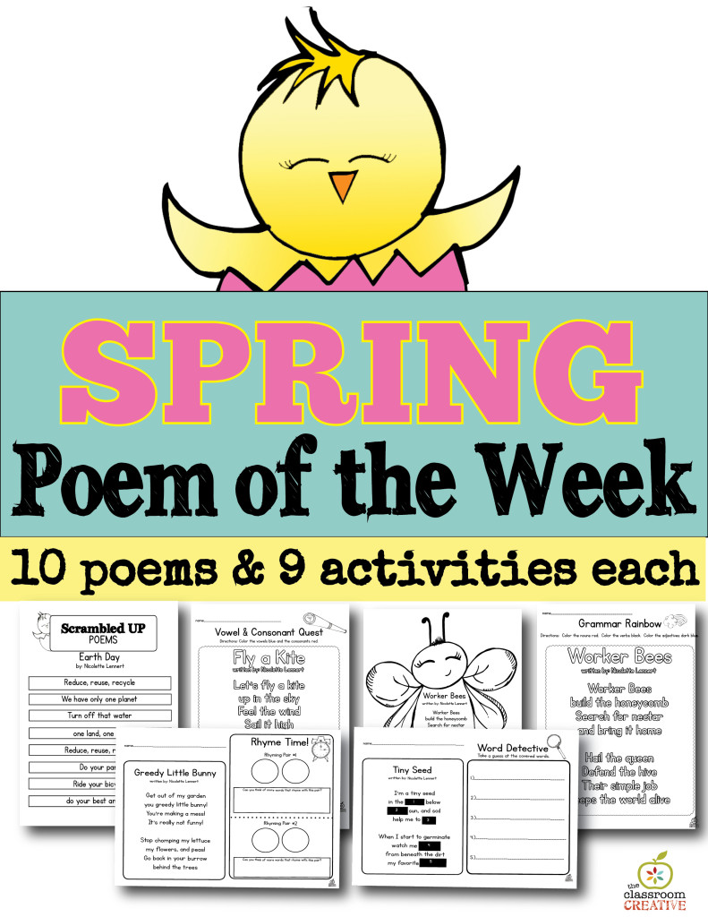 spring poems vertical pages