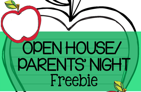 Free Open House/ Parent's Night Printable {Apple Themed}