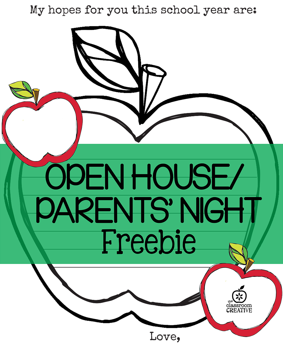 Free Open House/ Parents' Night Printable {Apple Themed}