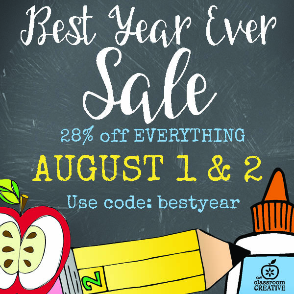 Best Year EVER Sale (August 1st and 2nd only)