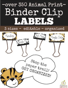 binder clip labels freebie labels