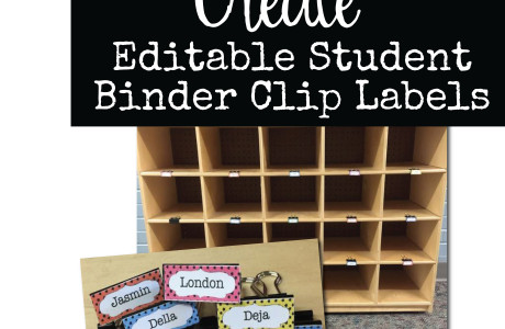 Classroom Organization Idea: Editable Student Binder Clip Labels for Cubbies and Mailboxes