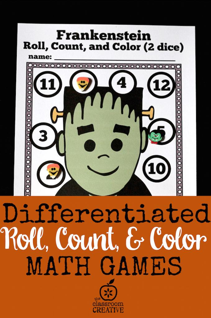 Halloween Math Centers for Preschool, Kindergarten, and First Grade ...