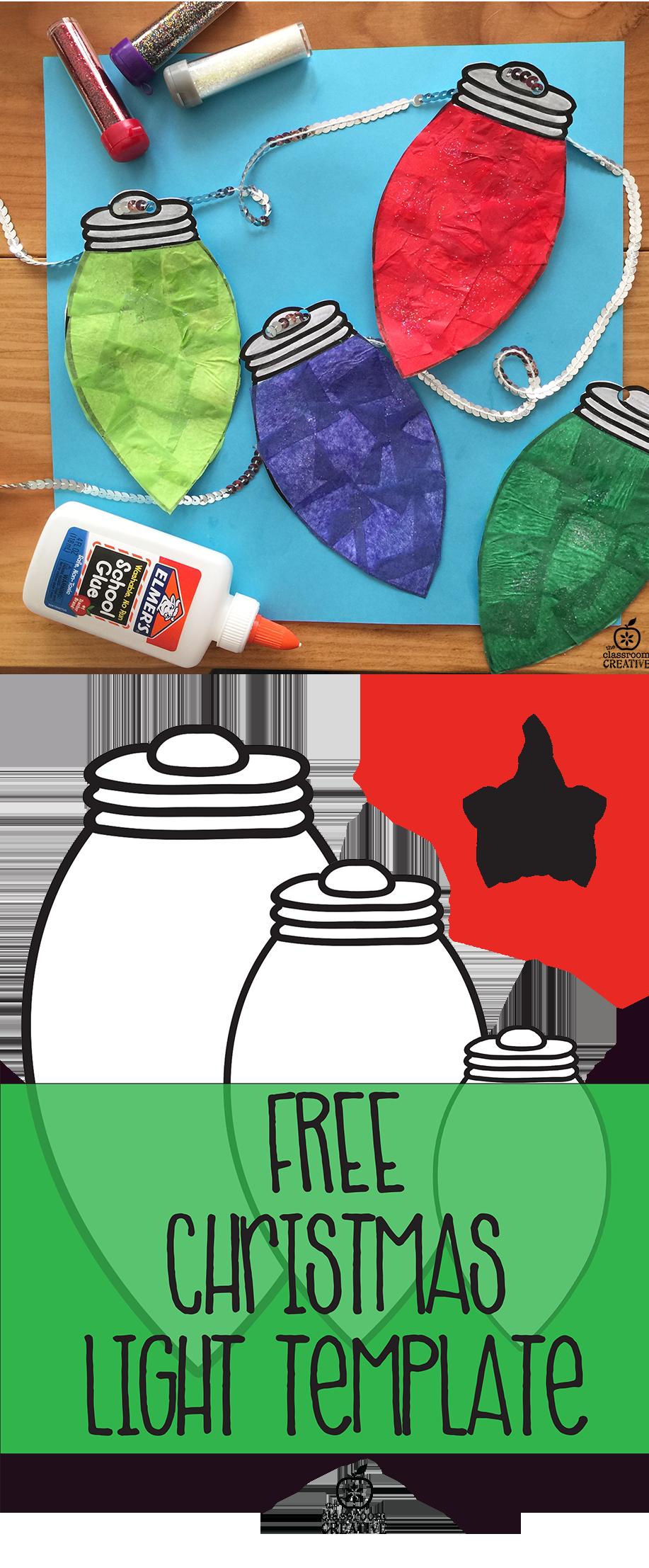 Christmas Light Paper Craft