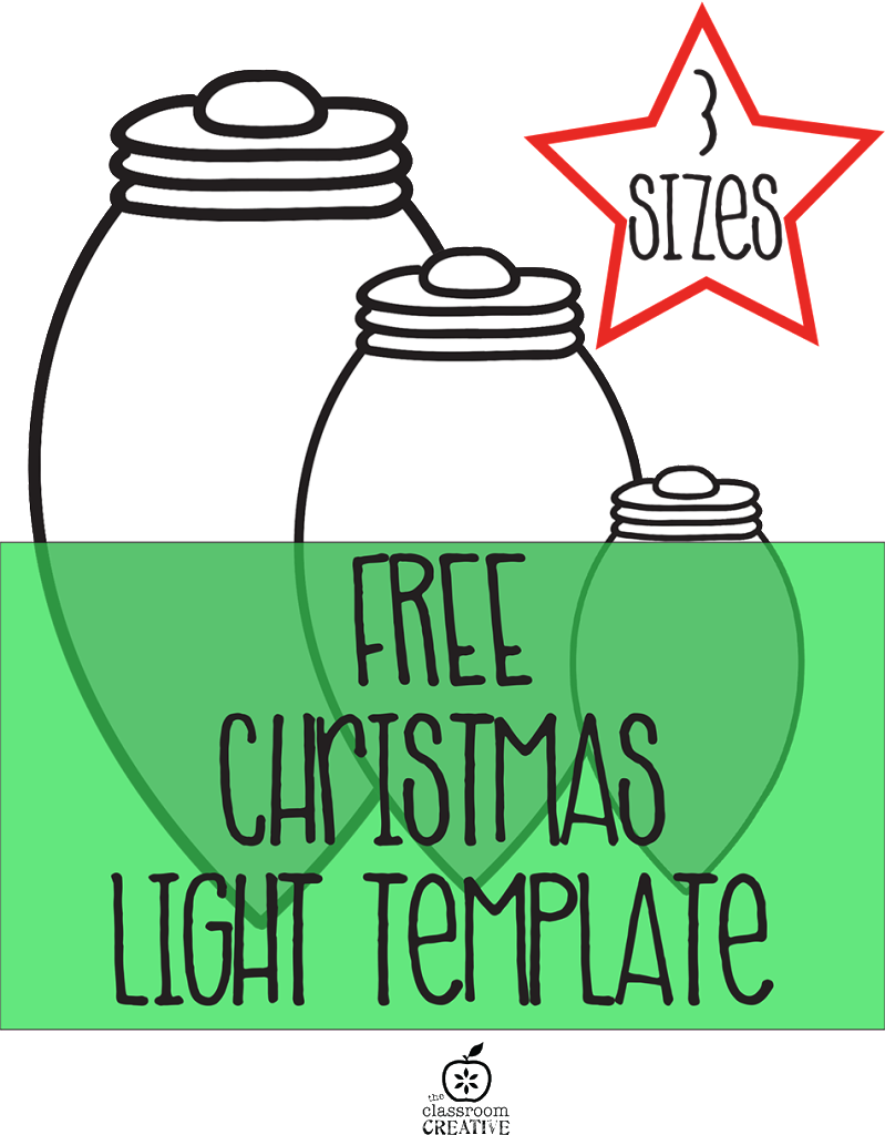 Christmas Classroom Decoration Printables : Free printable christmas light garland craft for kids