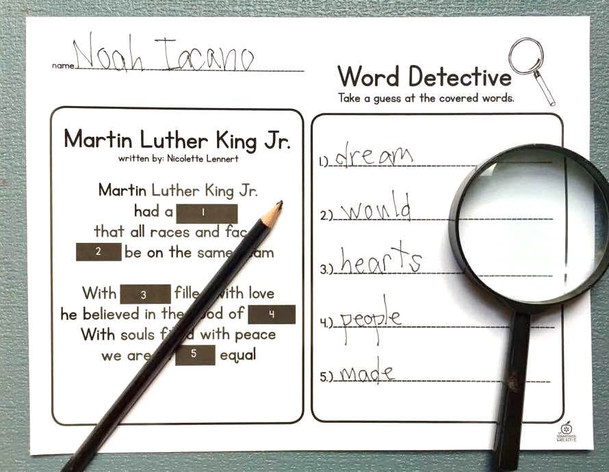 cloze-strategy-for-reading-word-detective-center-literacy-center-for-first-and-second-grade