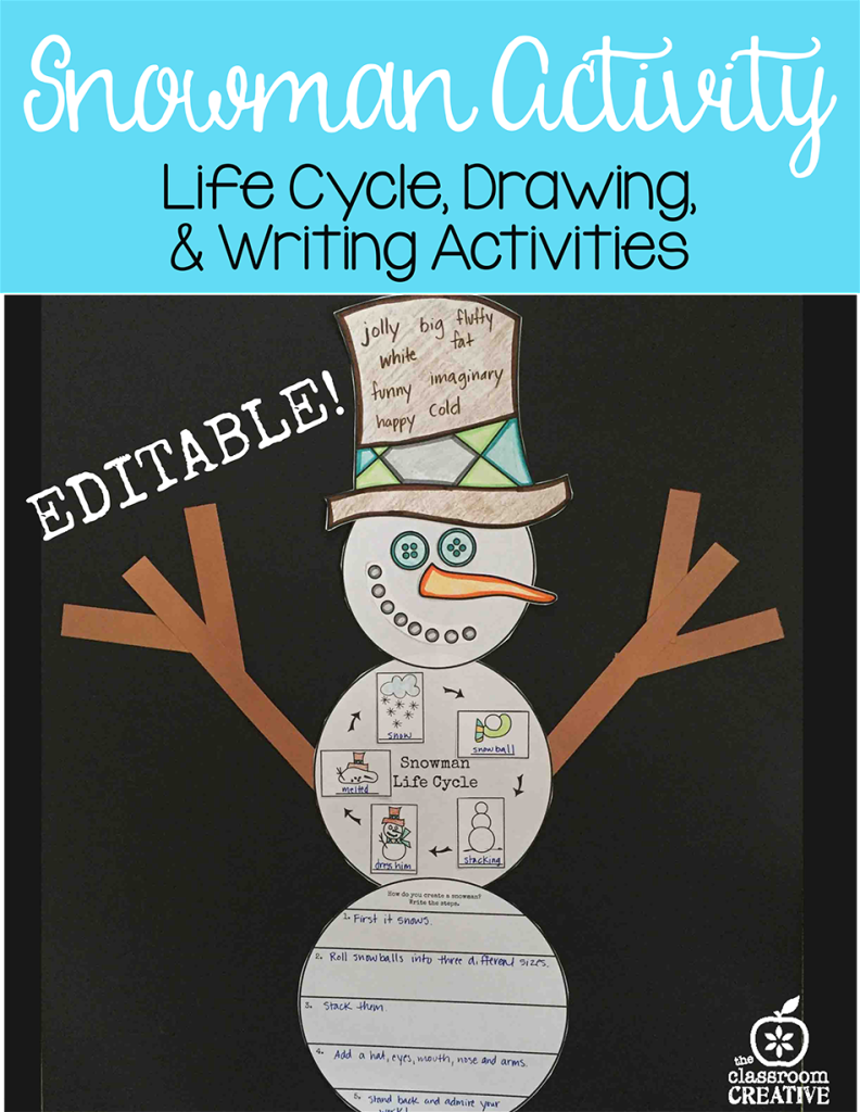 snowman activity and literacy
