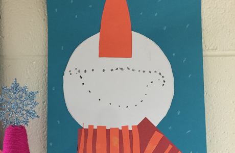 Snowman Craft using Construction Paper