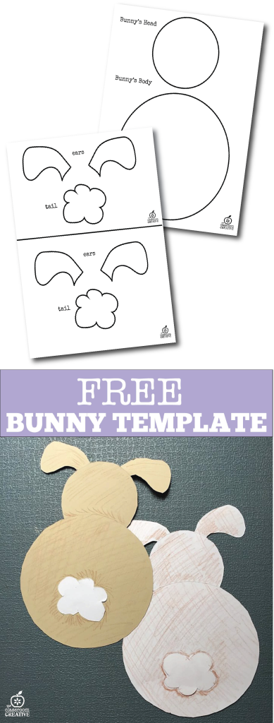 bunny template freebie the classroom creative, spring bunny template, spring template