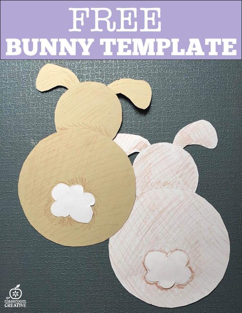 free bunny rear view template