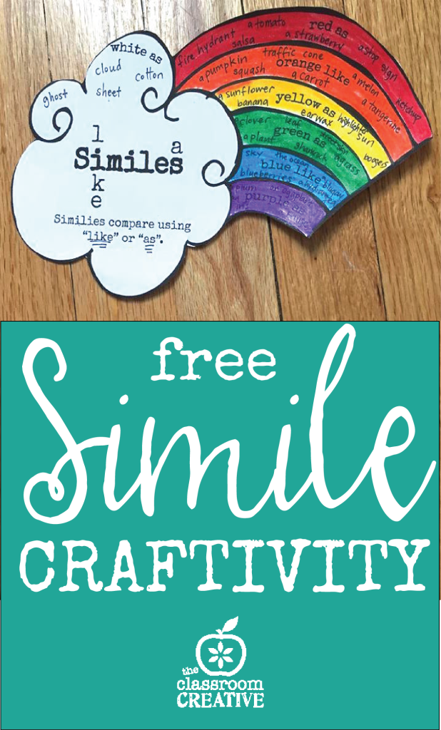 free simile craftivity