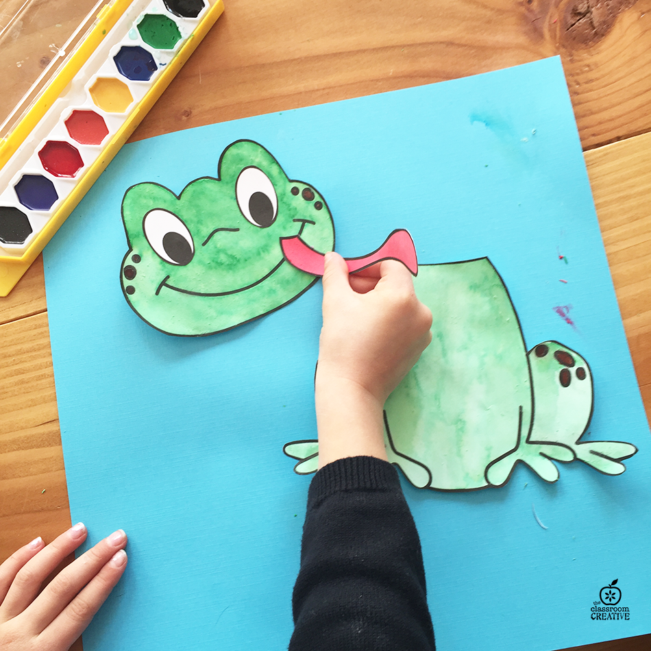 free printable frog template craft activity