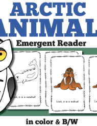 arctic animal emergent reader, literacy resource