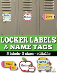 back to school labels and name tags
