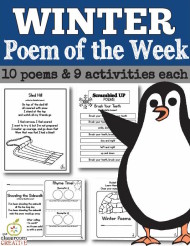 winter poem of the week, winter poems for kids