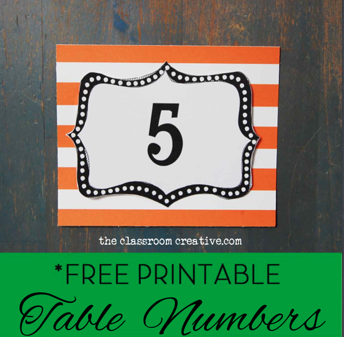 Number Names Worksheets free printable table number templates : Classroom Organization Freebie: Classroom Number Printables